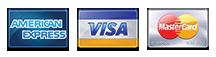 Visa, Mastercard American Express